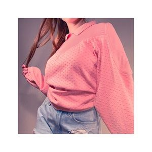 Tops - VINTAGE 80's HEART EMBOSSED PULL OVER💕